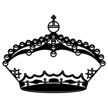crown monarchy king ornate jewelry image vector illustration Stock Illustratie
