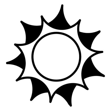 太陽夏気候熱帯コンセプトベクトル図