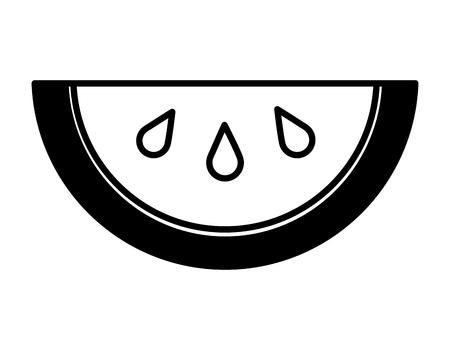 hlaf watermelon fruit tropical food vector illustration 向量圖像