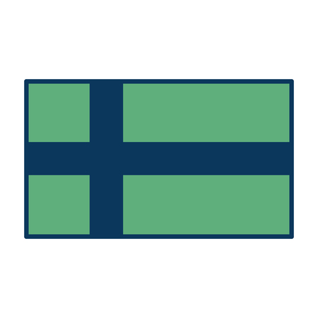 flag of sweden national symbol icon vector illustration green and blue 向量圖像