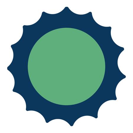 太陽夏気候熱帯コンセプトベクトルイラスト緑と青  イラスト・ベクター素材