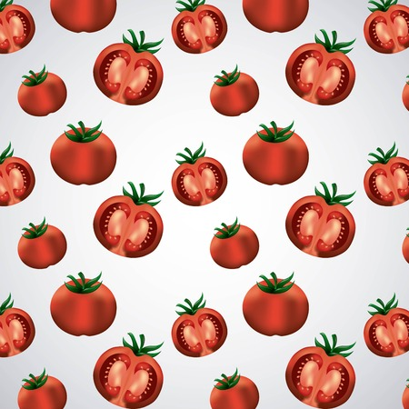 la tomatina half tomatoes smash festival throwing background vector illustration