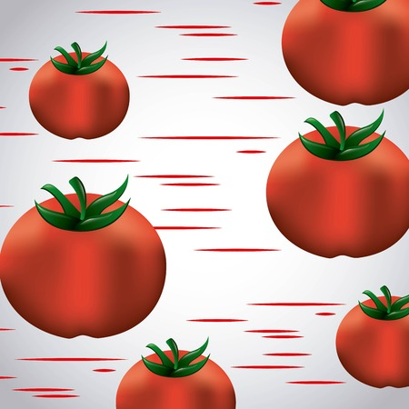 la tomatina tomatoes red lines festival vector illustration