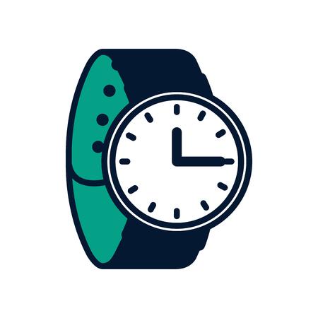腕時計時間アクセサリートレンディベクターイラスト緑のデザイン