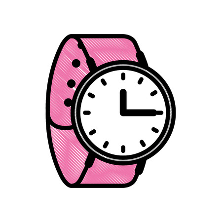 wrist watch time accessory trendy vector illustration Illustration