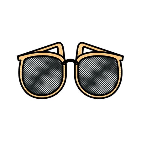 elegant sunglasses female accessory fashion vector illustration