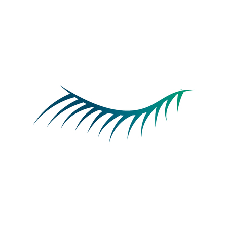 cute eyelash closed eye image vector illustration degraded green color