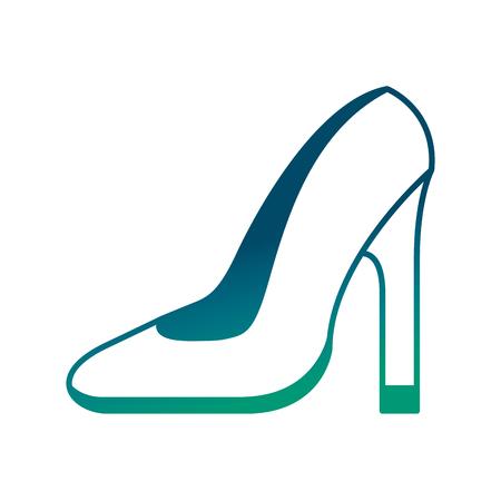 elegant womens high heel shoe vector illustration degraded green color