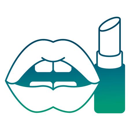 Frauen Lippen Lippen sinnliche Lippenstift Make-up Vektor-Illustration grün grün Farbe Standard-Bild - 98794136