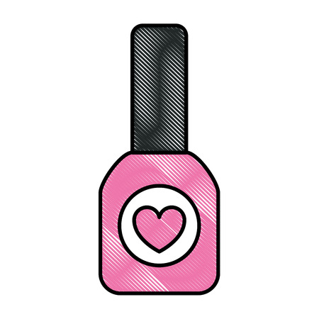 cosmetic bottle nail polish color feminine vector illustration 免版税图像 - 98794137