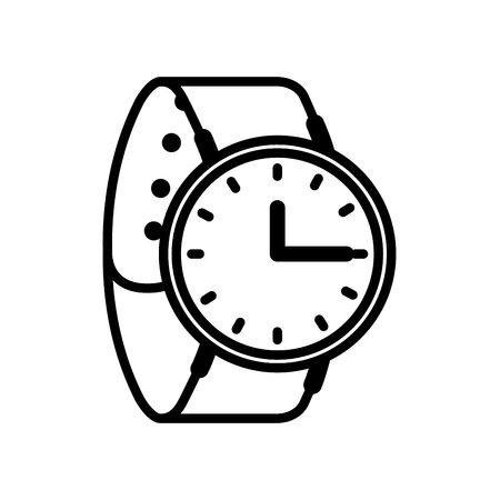 wrist watch time accessory trendy vector illustration outline 向量圖像