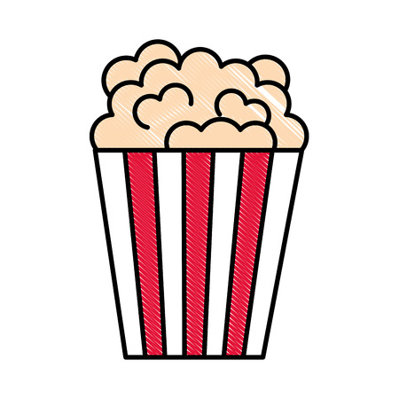 bucket popcorn snack food image vector illustration