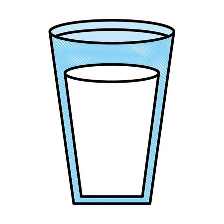 fresh milk glass nutrition beverage vector illustration