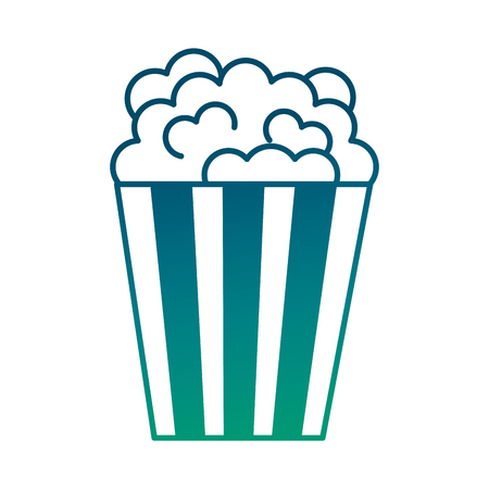 bucket popcorn snack food image vector illustration degraded green color