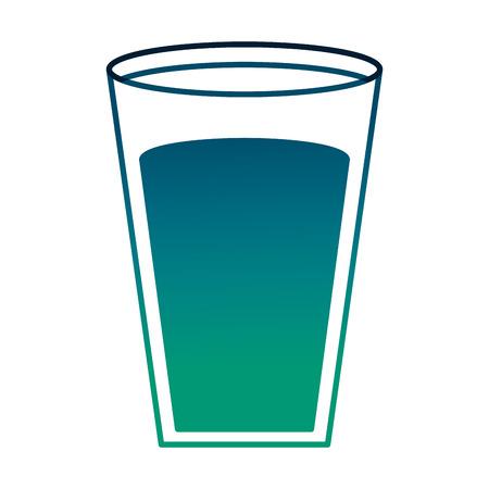 fresh milk glass nutrition beverage vector illustration degraded green color