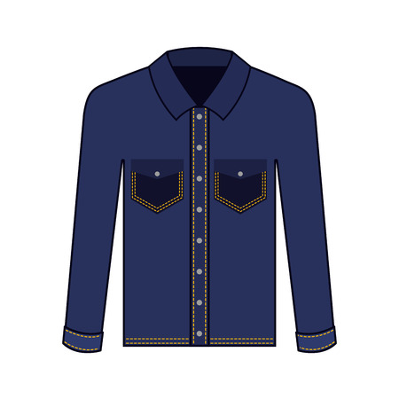 female jacket in jean vector illustration design