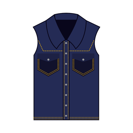 female vest in jean vector illustration design