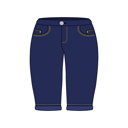 female pants in jean vector illustration design