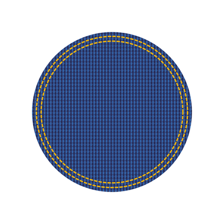 jean patch with circle shape vector illustration design Illusztráció
