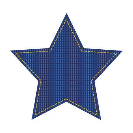 jean patch with star shape vector illustration design Illusztráció