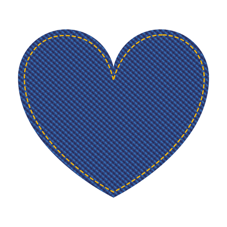 jean patch with heart shape vector illustration design