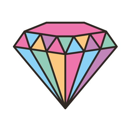 diamond gem isolated icon vector illustration design Illustration