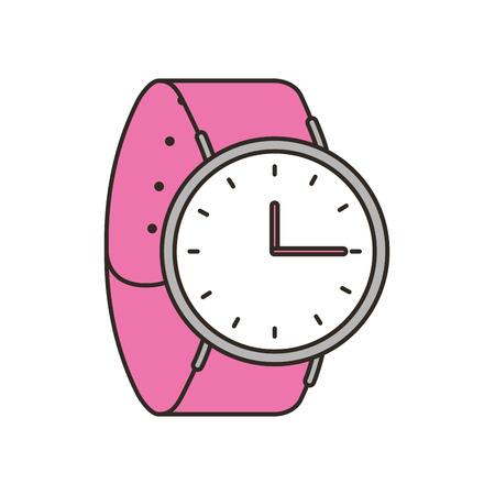 clock watch isolated icon vector illustration design Ilustração