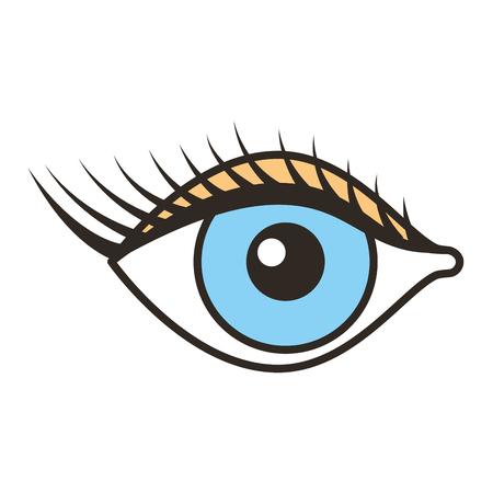 female eye with lashes vector illustration design