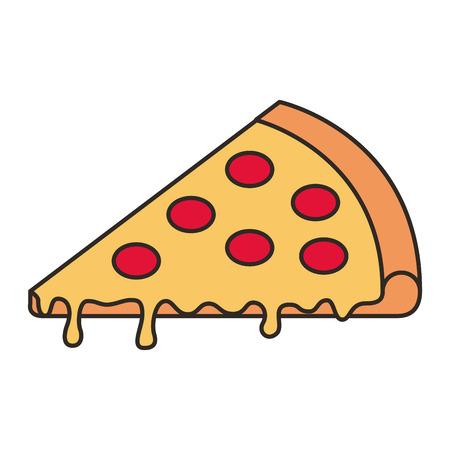 delicious pizza fast food vector illustration design