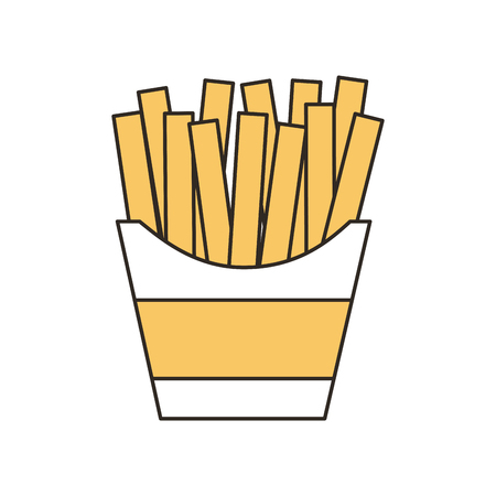 french fries fast food vector illustration design