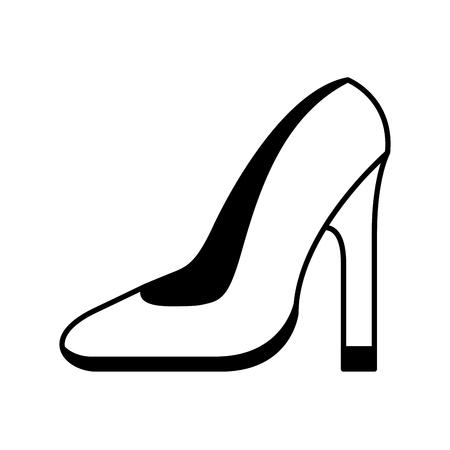 hoge hak schoen pictogram vector illustratie ontwerp