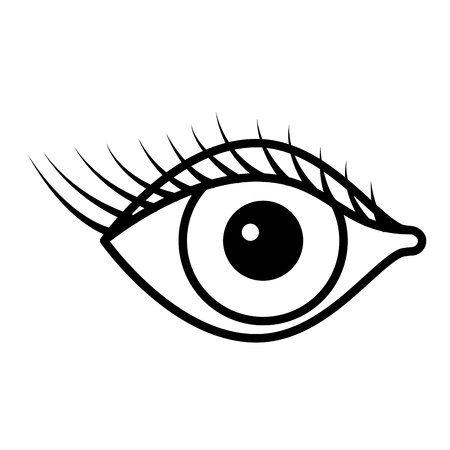 female eye with lashes vector illustration design