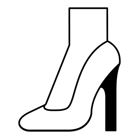 foot with high heel shoe icon vector illustration design Stock Illustratie