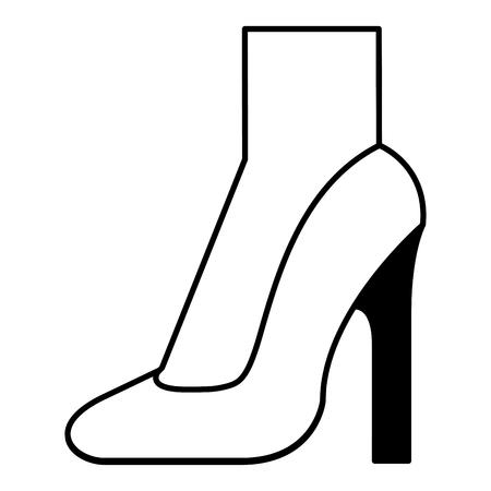 foot with high heel shoe icon vector illustration design Illustration