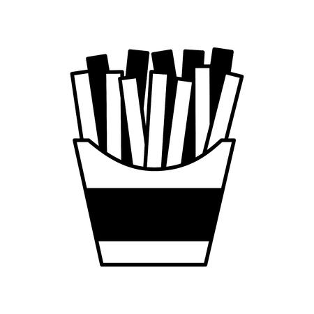 French fries fast food vector illustration design Ilustração
