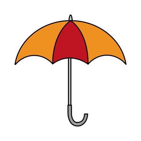 オープン傘天気保護アイコンベクトルイラスト  イラスト・ベクター素材
