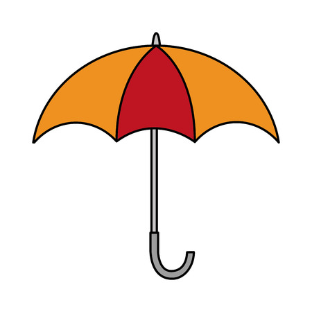 open umbrella weather protection icon vector illustration