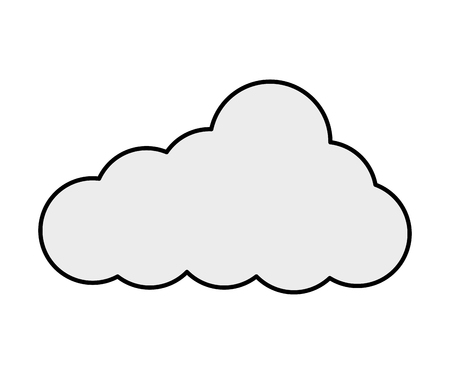 cloud sky nature weather image vector illustration Ilustração