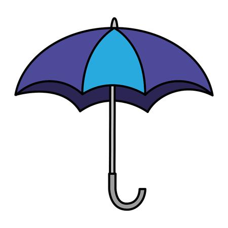 Open umbrella weather protection icon vector illustration. Reklamní fotografie - 98908981