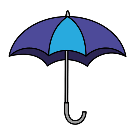 Open umbrella weather protection icon vector illustration.