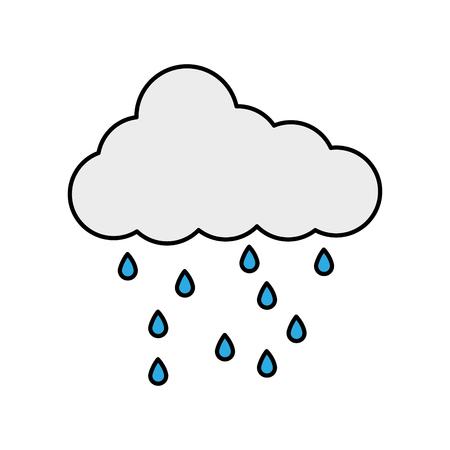 Cloud rain drops weather season image vector illustration