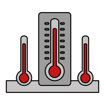 Set of thermometer temperature hot measuring vector illustration 向量圖像