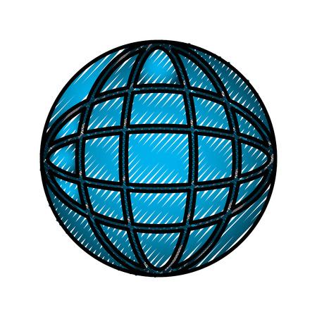 World connection technology concept image vector illustration Stock Illustratie