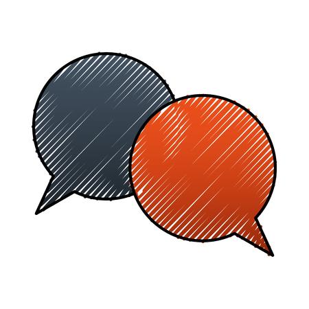 Speech bubbles conversation dialog talk vector illustration