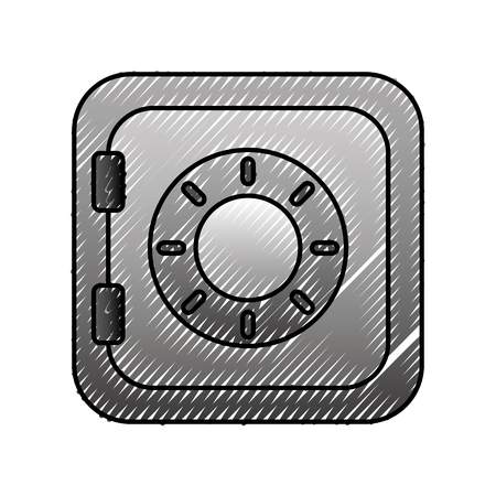 safe box bank for security of money icon vector illustration