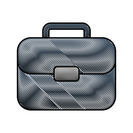 business suitcase for document in office image vector illustration Stock Illustratie
