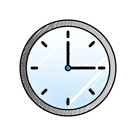 clock time hour break image vector illustration Иллюстрация