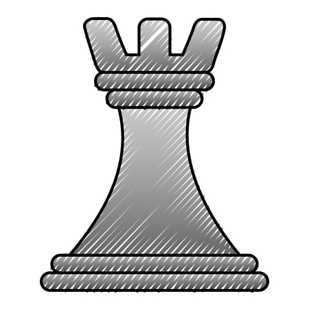 Business strategy chess piece plan concept vector illustration.