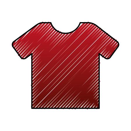 Red shirt marketing sale image vector illustration