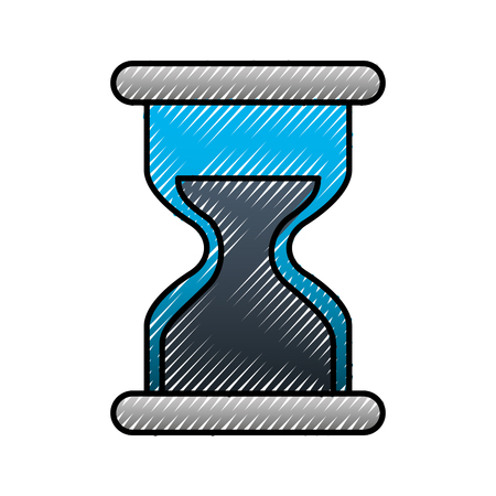 Hourglass business work time image vector illustration